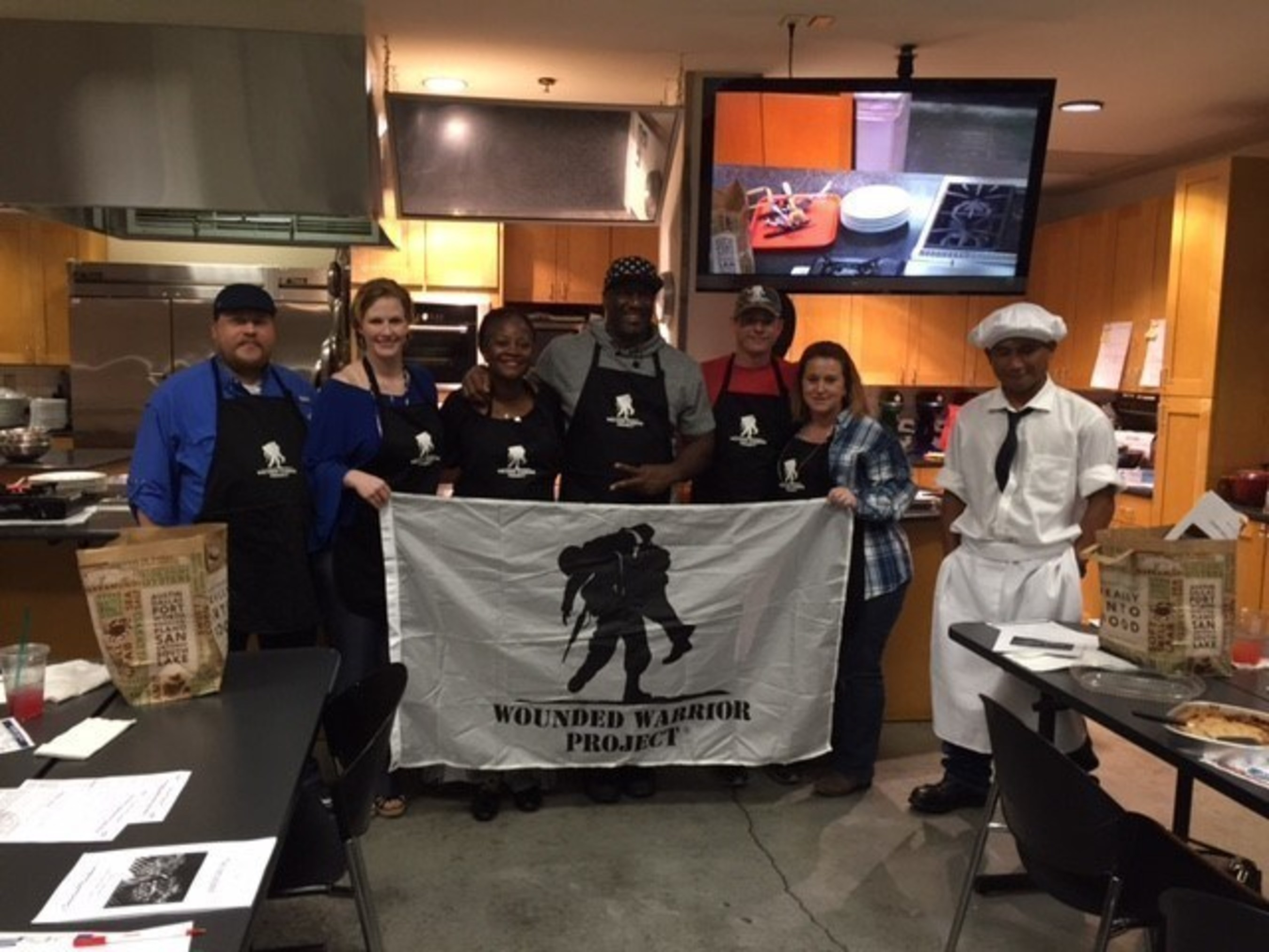 Wounded Warriors really cook up a storm at a unique cooking class for couples.