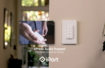 iPort(R) Announces The xPRESS(TM) Audio Keypad for Sonos(R): Direct WiFi Control for Any Sonos Device.