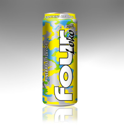 Phusion Projects, LLC today announced the debut of its latest Four Loko flavor -- Pineapple -- which will begin appearing on store shelves in March. Four Loko Pineapple continues the trend of bringing cocktail flavors to the beer industry, with the second new flavor announced this year. In January, Four Loko introduced Four Loko Margarita.  (PRNewsFoto/Phusion Projects, LLC)
