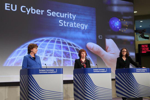 EU NewsBrief: EU Lays Out Cybersecurity Strategy.  (PRNewsFoto/Delegation of the European Union to the United States, Photo credit: European Commission)