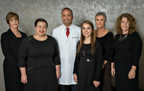 Pictured left to right: Kathryn Lang, Kat Medina Nino, Kenneth Peters, M.D., McKenna Fromm, Jon Rivers and ...