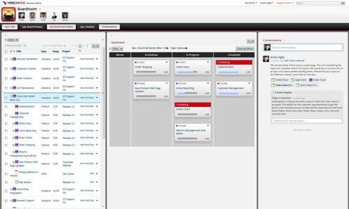 VersionOne Introduces PlanningRoom, Conversations and SAFe(tm) Metrics. (PRNewsFoto/VersionOne) ...