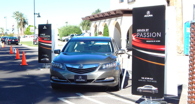"""Acura's Multi-City """"Driven by Passion"""" Tour Showcases 2014 RLX Flagship Sedan, Supports Local Organizations and Causes Along the Way.  (PRNewsFoto/Acura)"""