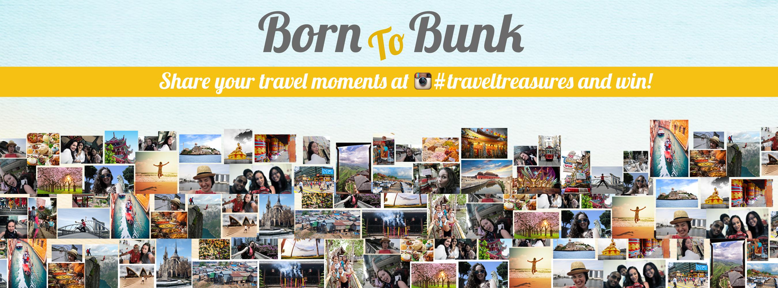BornToBunk.com #TravelTreasures Contest (PRNewsFoto/Glocal Hospitality Solutions)