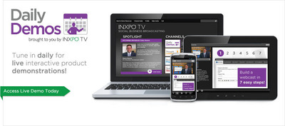 INXPO Launches Daily Demos to Highlight their Webcasting and Social Business TV Software.  (PRNewsFoto/INXPO)