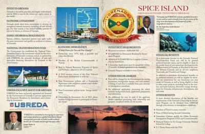 USREDA-Grenada Brochure. (PRNewsFoto/United States Regional Economic Development Authority) (PRNewsFoto/USREDA)