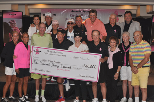2013 Morgan & Friends Fight Cancer Golf Tournament raises $540,000 at St. Andrews Country Club. Pressel ...