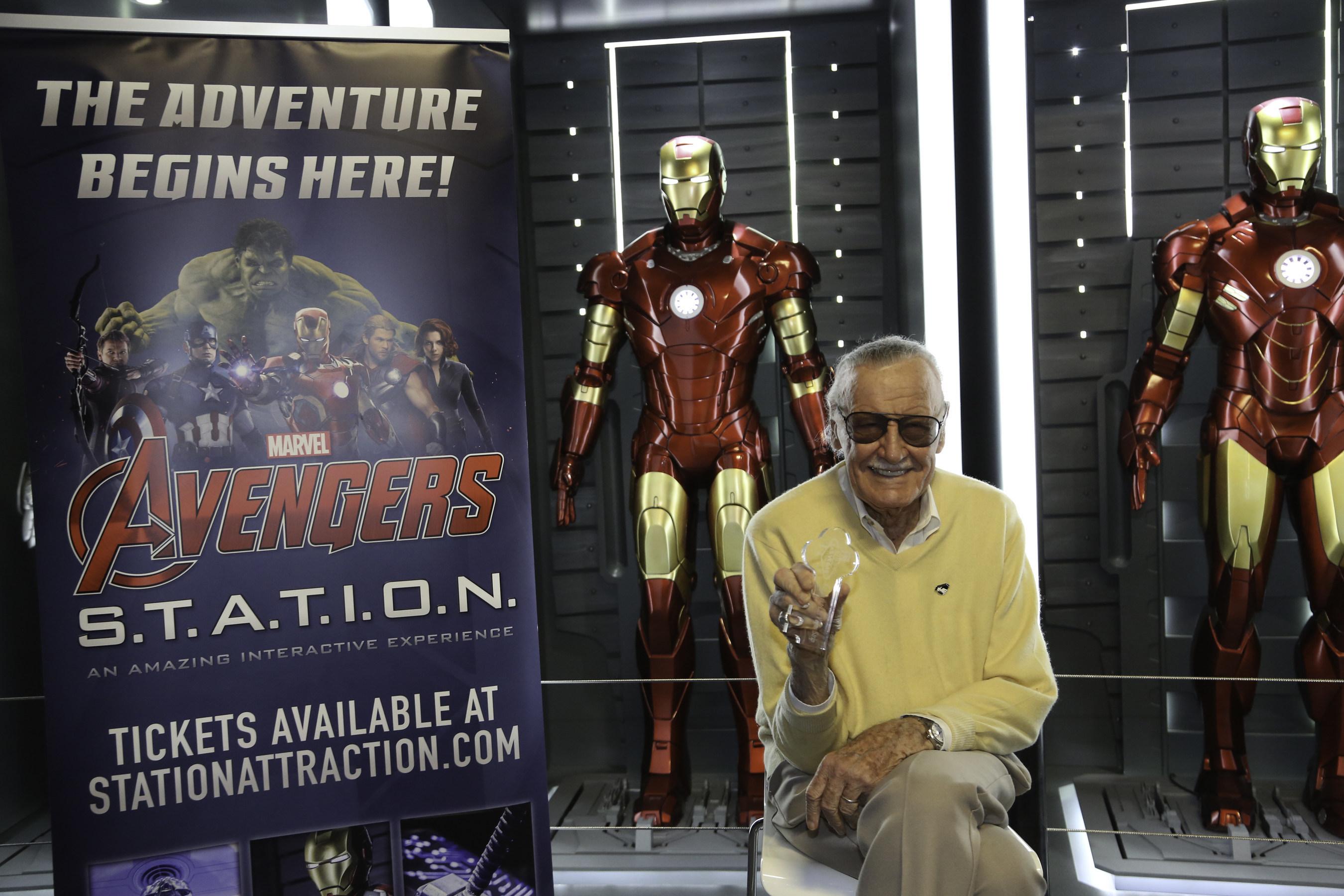 Stan Lee at Marvel Avengers S.T.A.T.I.O.N. inside Treasure Island