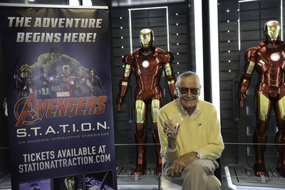 Stan Lee at Marvel Avengers S.T.A.T.I.O.N. inside Treasure Island