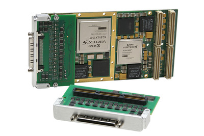 New FPGA mezzanine card adds analog and digital I/O processing functions.  (PRNewsFoto/Acromag)
