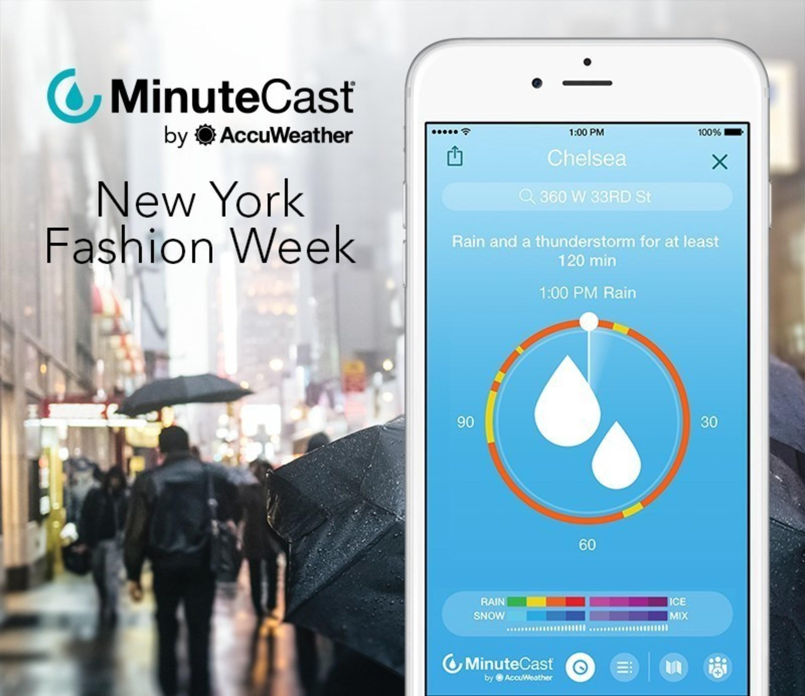 AccuWeather MinuteCast Keeps Fashion-Forward Crowd One Step Ahead of Rain during New York Fashion Week