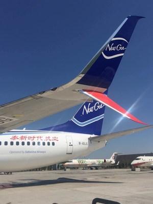 NewGen Airways Boeing 737-800 with Aviation Partners Boeing Split Scimitar Winglets