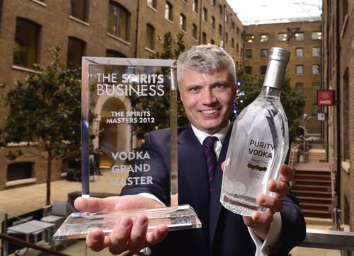 Thomas Kuuttanen of Purity Vodka at the Spirit Business Awards.  (PRNewsFoto/Purity Vodka)