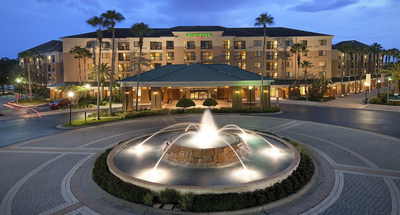 The Courtyard Orlando Lake Buena Vista in the Marriott Village is one of five Marriott branded select-service and extended stay hotels that Noble acquired from Ashford Hospitality Trust.