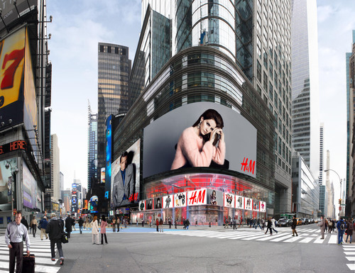 Rendering of H&M Future 4 Times Square Store Front.  (PRNewsFoto/H&M)