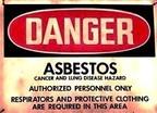 Asbestos sign (PRNewsFoto/Mesothelioma Compensation Center)