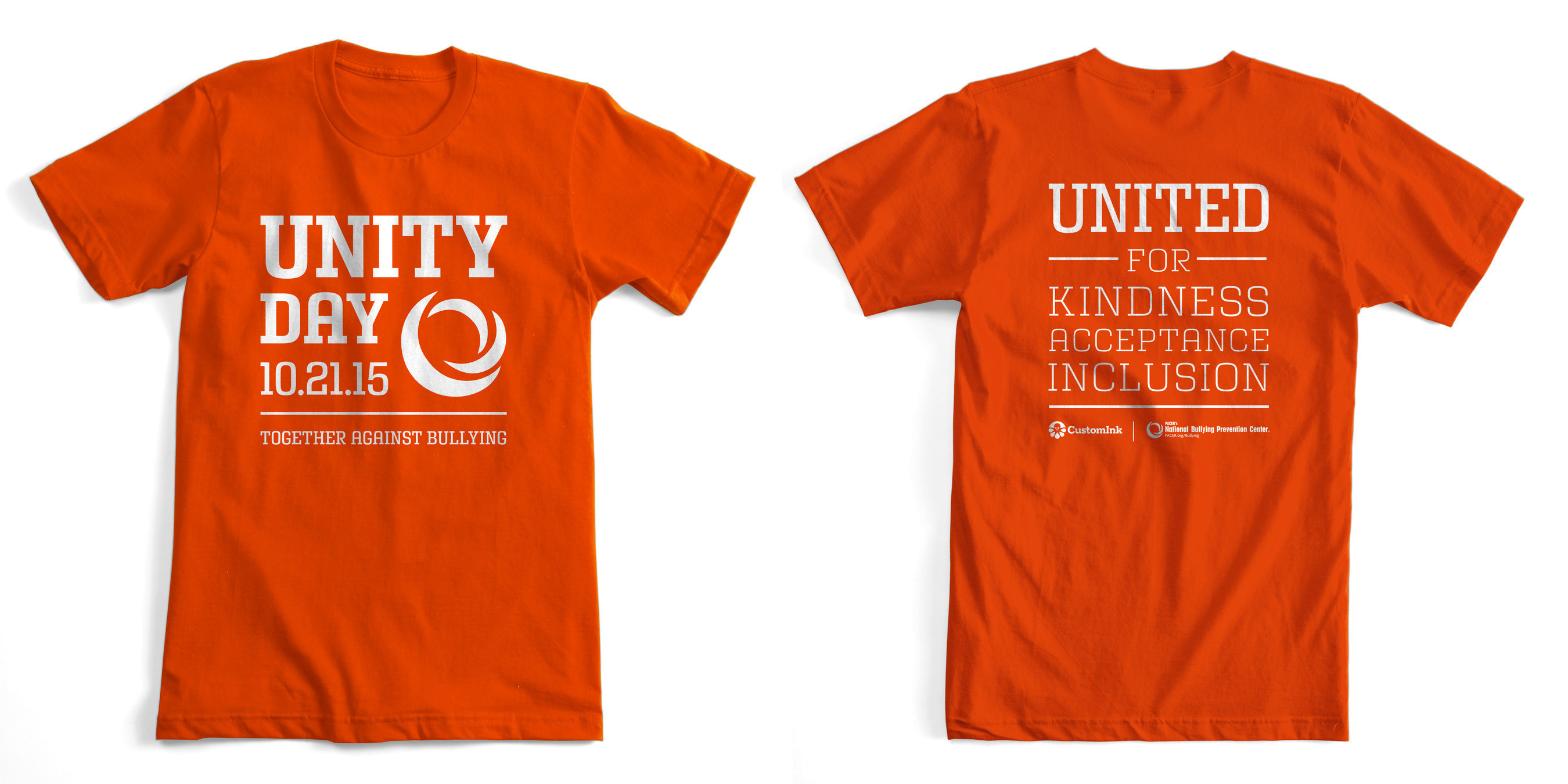 CustomInk releases t-shirt to support PACER's 2015 Unity Day