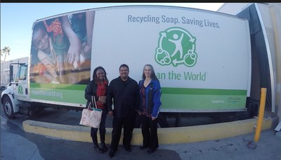 Caesars employee contest winners Paulette Landell, Yader El-Azar and Laurie Porter, who were chosen to participate in this year's Clean the World trip to Guatemala as recognition for their leadership in community service.