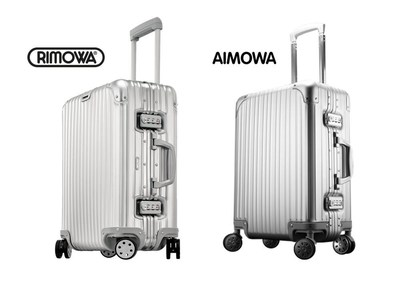 RIMOWA Topas vs. Aimowa suitcase. On October 28, 2016, the luggage manufacturer RIMOWA won a precedent-setting court case in China, one of the largest sales markets in Asia. This breakthrough represents a major step in the RIMOWA groove design being recognized in Asia as an example of well-known industrial design. (PRNewsFoto/RIMOWA GmbH)