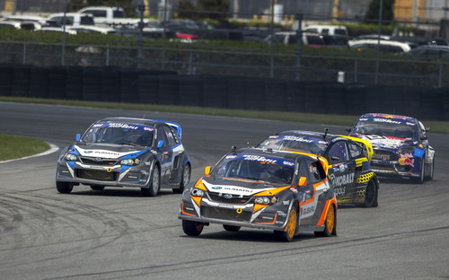 Subaru Rally Team USA drivers Lasek and Isachsen both claimed a top five finish at Red Bull GRC Daytona, with Lasek claiming third. (PRNewsFoto/Subaru of America, Inc.)