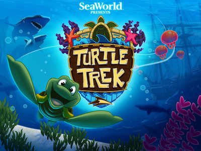SeaWorld(R) announced the company's first mobile game, Turtle Trek(TM) now available from the App Store(SM).  It is a free game download for the iPhone and iPad. Players guide a sea turtle on a quest across the beach and into the water to find friends. They help the sea turtle navigate through the perilous seascape and conquer a variety of challenges. It offers an educational benefit by sharing fun facts about real sea animals. A portion of proceeds from available additional purchasable content will be donated directly to the SeaWorld & Busch Gardens Conservation Fund. SeaWorld Parks & Entertainment. Orlando, Fla.  (PRNewsFoto/SeaWorld Parks & Entertainment)