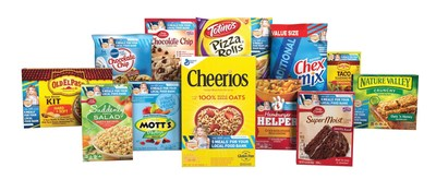 Participating General Mills Products for 2016 Outnumber Hunger Campaign. The specially marked products contain a code found on the packaging that helps Feeding America secure five meals on behalf of local food banks.