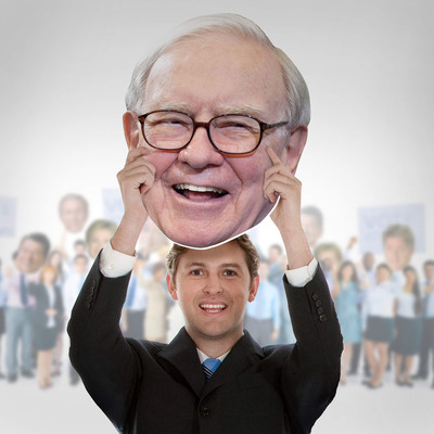 Fathead Makes Warren Buffett a Big Head with 100% of Profits going to 2 Detroit-based Charities: Money Matters for Youth and Motor City Blight Busters.  (PRNewsFoto/Fathead)