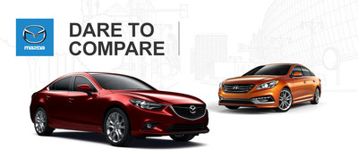 Mazda of Lodi helps local shoppers by comparing the 2015 Mazda6 and 2015 Hyundai Sonata. (PRNewsFoto/Mazda of Lodi)