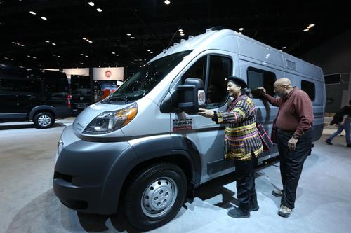 Winnebago Touring Coach Travato is featured at the 2014 Chicago Auto Show. (PRNewsFoto/Winnebago Industries, ...