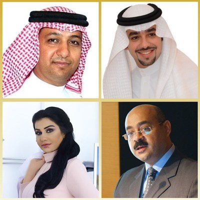 From top left to bottom right: Dr. Khaled Al-Nuaimi (President), Dr. Saad Al-Sogair (Vice President), Dr. Jeehan Abdul Qadir (Executive Coordinator) and Dr. Ashraf Badawi (Secretary General).