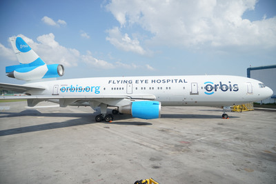 Orbis operates the Flying Eye Hospital (FEH), a fully equipped mobile teaching hospital. On the outside, the plane is like most other aircraft. Inside, it's like no other - it hosts an ophthalmic hospital and teaching facility right on board. Learn more: www.orbis.org.  (PRNewsFoto/Orbis)