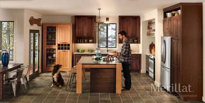 Door Style: Tolani Wood Type: Oak Color: Pecan and Amaretto. (PRNewsFoto/Merillat Cabinetry) (PRNewsFoto/MERILLAT CABINETRY)