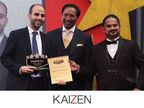 Mr. Fadi Nwilati, CEO of KAIZEN Property Services, receiving the Property Times Editor's Choice award for Exclusive Projects in Dubai