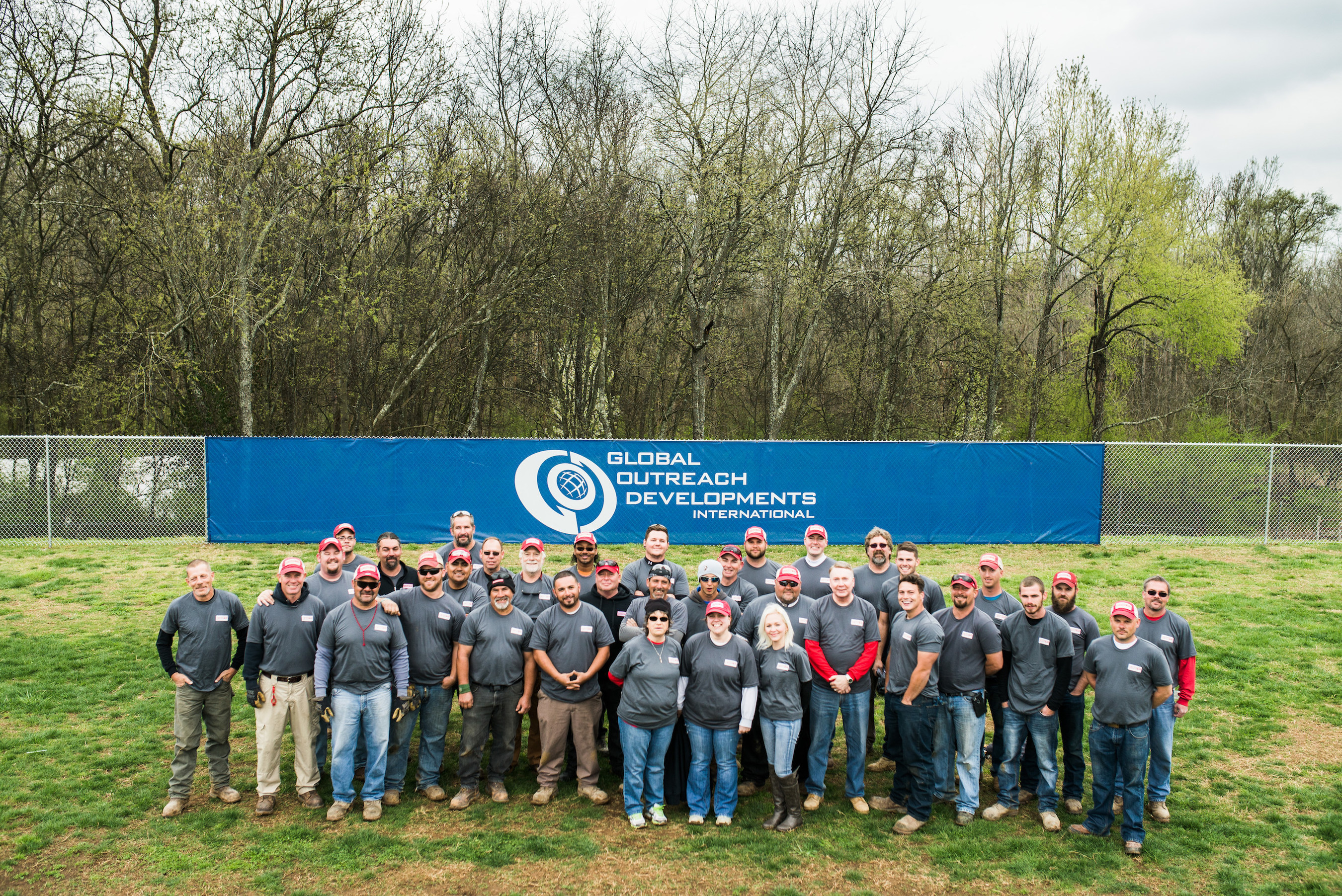 Rio Grande Fence Co. of Nashville staff photo after completing 2016 Good Friday Service Project in Old Hickory, Tenn. at G.O.D. Int'l