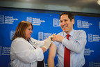 Tom Frieden, M.D., M.P.H., director of the Centers for Disease Control and Prevention, led by example and got his flu vaccination at the National Foundation for Infectious Diseases news conference. Public health officials and medical experts encourage everyone 6 months and older to get vaccinated to protect themselves and those around them against influenza. (PRNewsFoto/NFID)