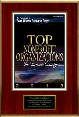 """Project 4031 Foundation Selected For """"Top Nonprofit Organizations In Tarrant County"""". (PRNewsFoto/Project 4031 Foundation) (PRNewsFoto/PROJECT 4031 FOUNDATION)"""