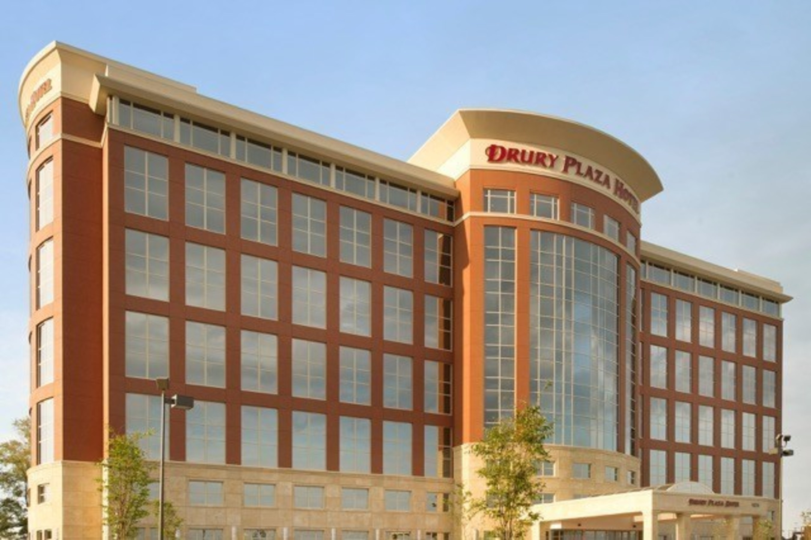 The Drury Plaza Hotel Indianapolis Carmel, located at 9625 North Meridian Street. The property features 303 guest rooms and seven meeting rooms totaling more than 7,000 square feet of flexible event space.