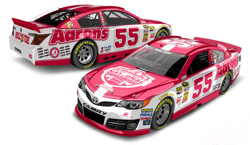 Aaron's and Michael Waltrip Racing will honor the University of Alabama during the May NASCAR Sprint Cup Series race at Talladega Superspeedway.  (PRNewsFoto/Aaron's, Inc.)