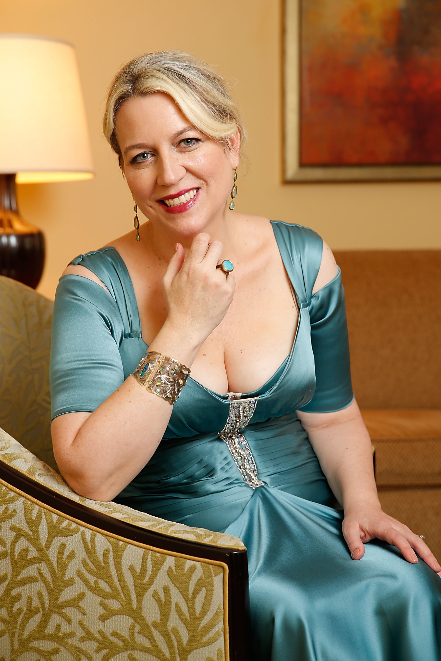 Wild author Cheryl Strayed prepares for the Oscars(R) wearing turquoise jewelry in support of the American Lung  ...