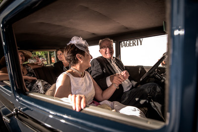 Couple renews their vows at Hagerty's vow renewal ceremony at Woodward Dream Cruise