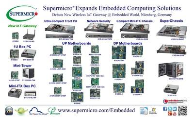 Supermicro® расширяет ассортимент решений для встроенной вычислительной обработки, представляя