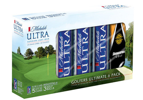 Award-Winning e6 Golf Balls and Michelob ULTRA Combine to Create the 'Golfer's Ultimate 6-Pack'.  (PRNewsFoto/Bridgestone Golf)