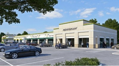 Rendering of the Gonzales Shopping Center (PRNewsFoto/i-10 Hospitality, LLC)