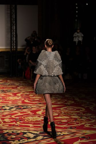 Stratasys 3D Printed Cape & Skirt with Objet Connex Multi-material 3D Printed Technology (PRNewsFoto/Stratasys ...