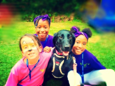 Camp Cocoon children share experiences with new friends.