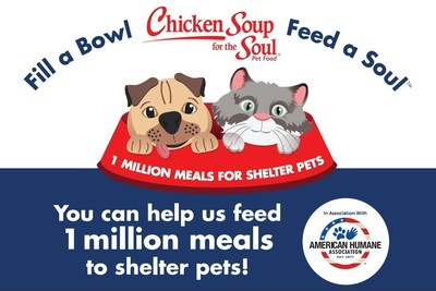 Chicken Soup for the Soul and American Humane are teaming up to provide 1 million meals to shelter pets. Support their efforts!