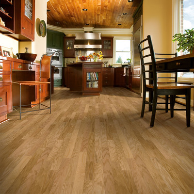 "Armstrong's Performance Plus(TM) line of ""Made in the USA"" engineered hardwood flooring uses proprietary acrylic-infusion technology to give it terrific strength while enhancing the wood's natural beauty.  (PRNewsFoto/Armstrong World Industries, Inc.)"