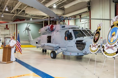 The Royal Australian Navy accepts the 24th, and final, MH-60R SEAHAWK(R) helicopter from Lockheed Martin in Owego, N.Y.