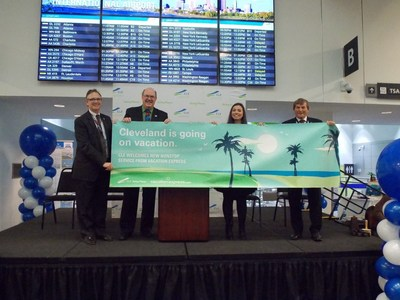 Representatives from Cleveland Hopkins International Airport and Vacation Express share the exciting new flights for 2017.