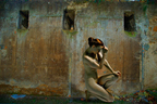 By a Roman Wall (PRNewsFoto/Michael K. Yamaoka)
